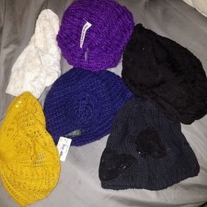 Bundle of 7 winter hats NWT forever 21, old navy